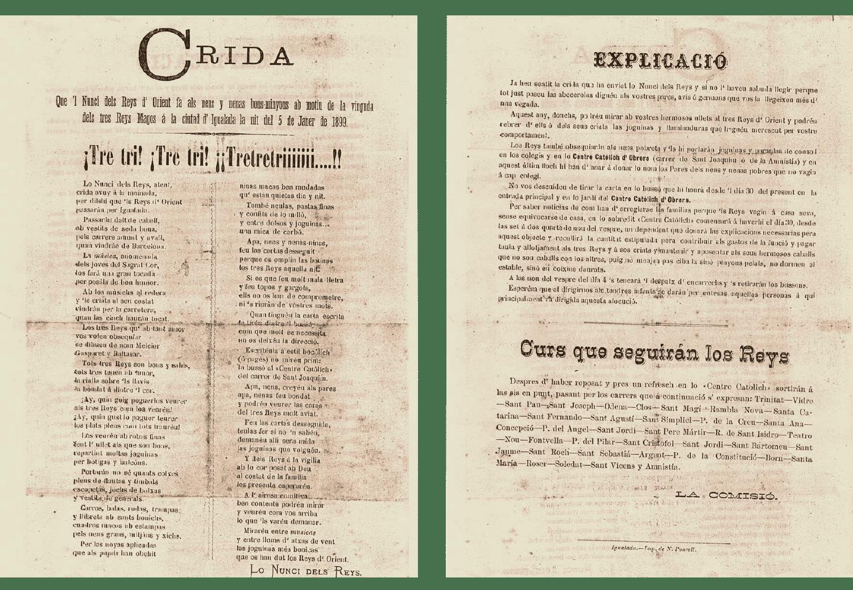 Crida Reis d'Igualada 1899