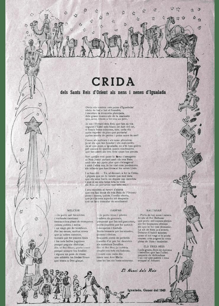 Crida Reis d'Igualada 1949