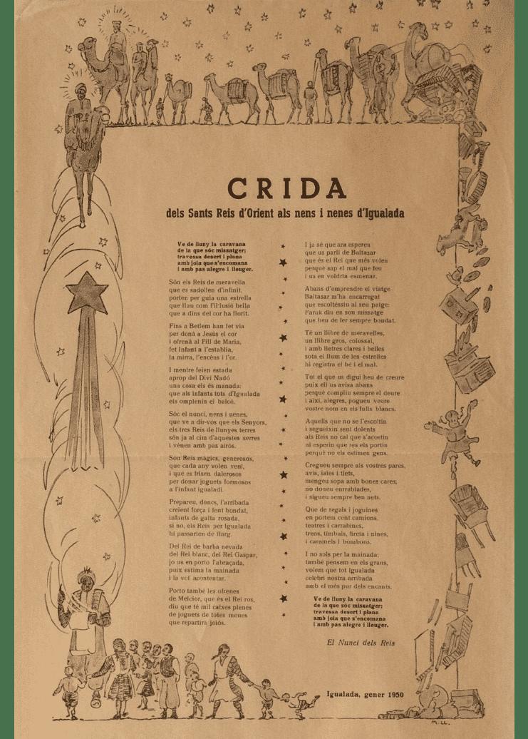 Crida Reis d'Igualada 1950