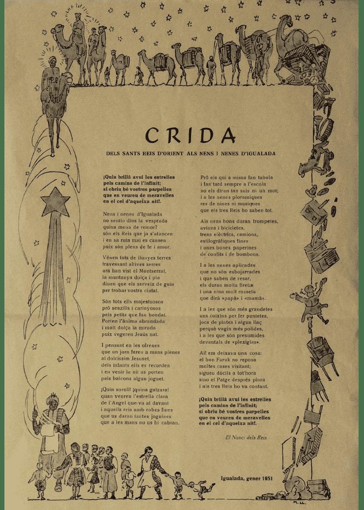 Crida Reis d'Igualada 1951