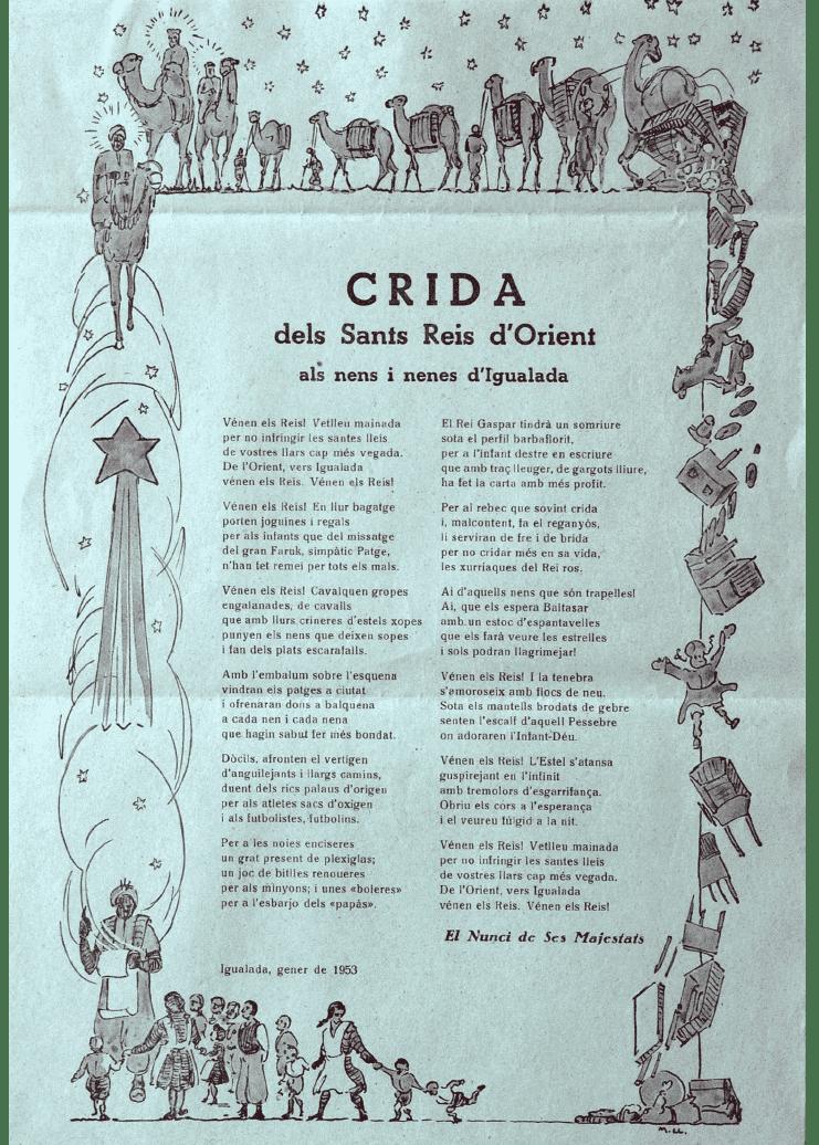 Crida Reis d'Igualada 1953