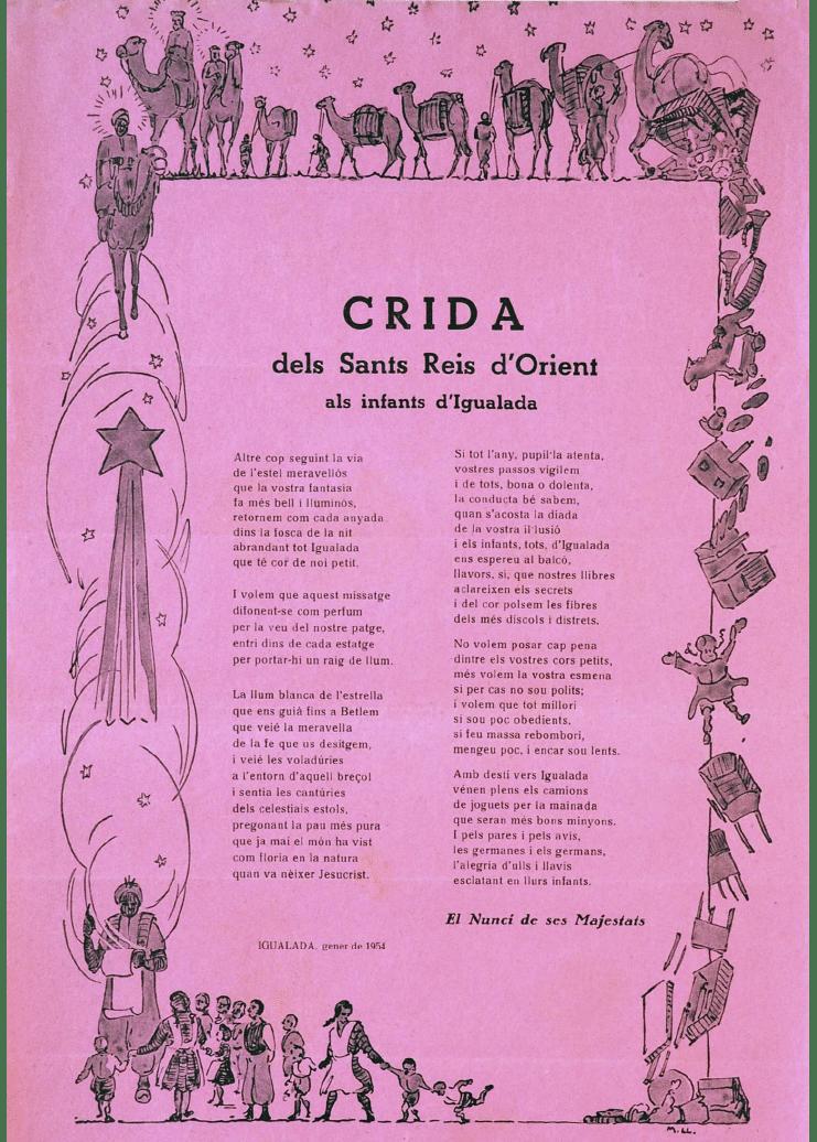 Crida Reis d'Igualada 1954