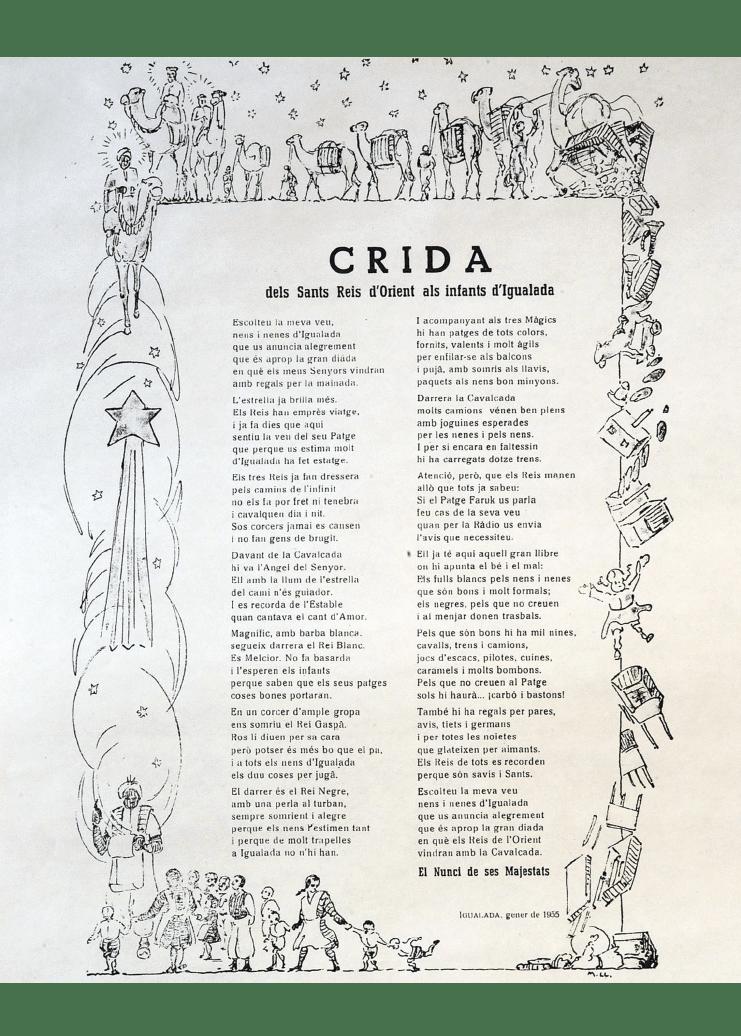 Crida Reis d'Igualada 1955