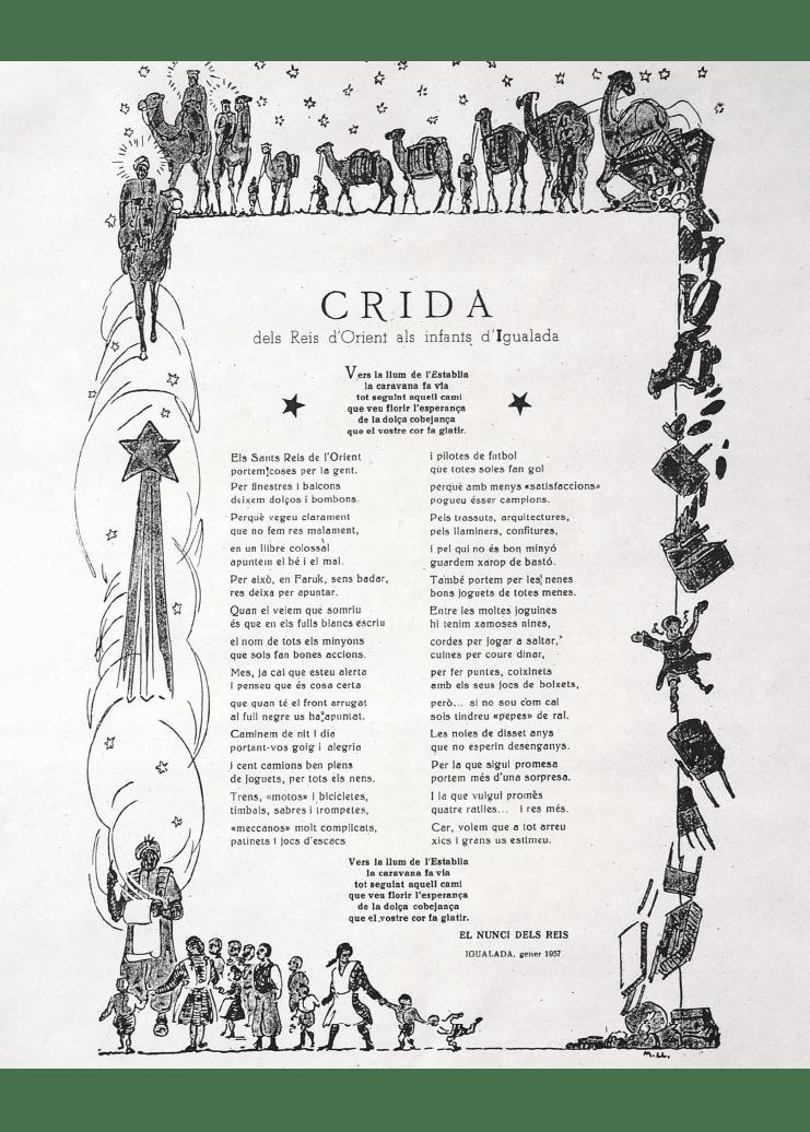 Crida Reis d'Igualada 1957