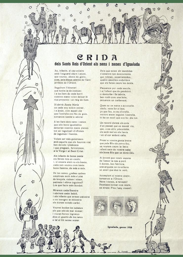 Crida Reis d'Igualada 1958
