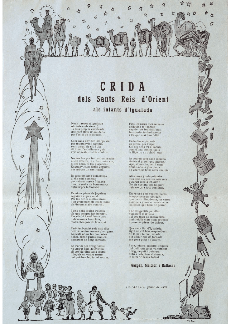 Crida Reis d'Igualada 1959