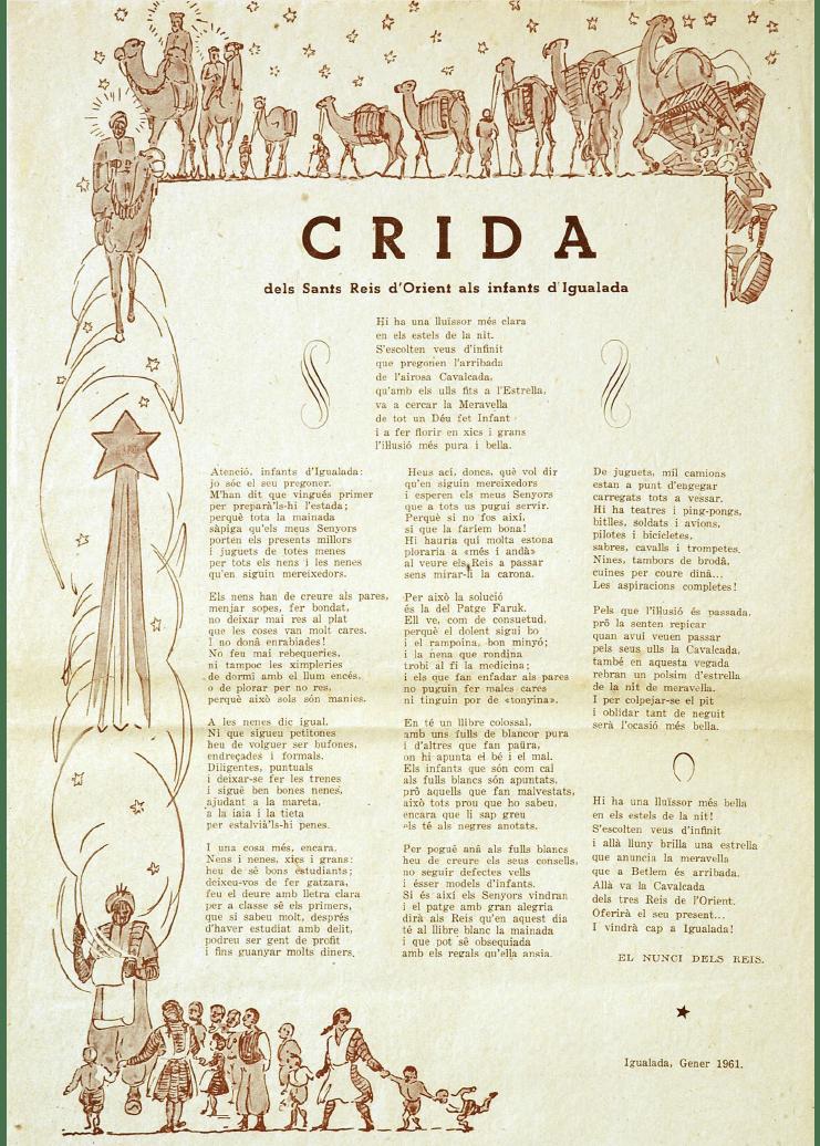 Crida Reis d'Igualada 1961