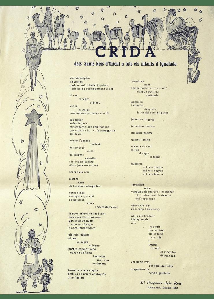 Crida Reis d'Igualada 1962