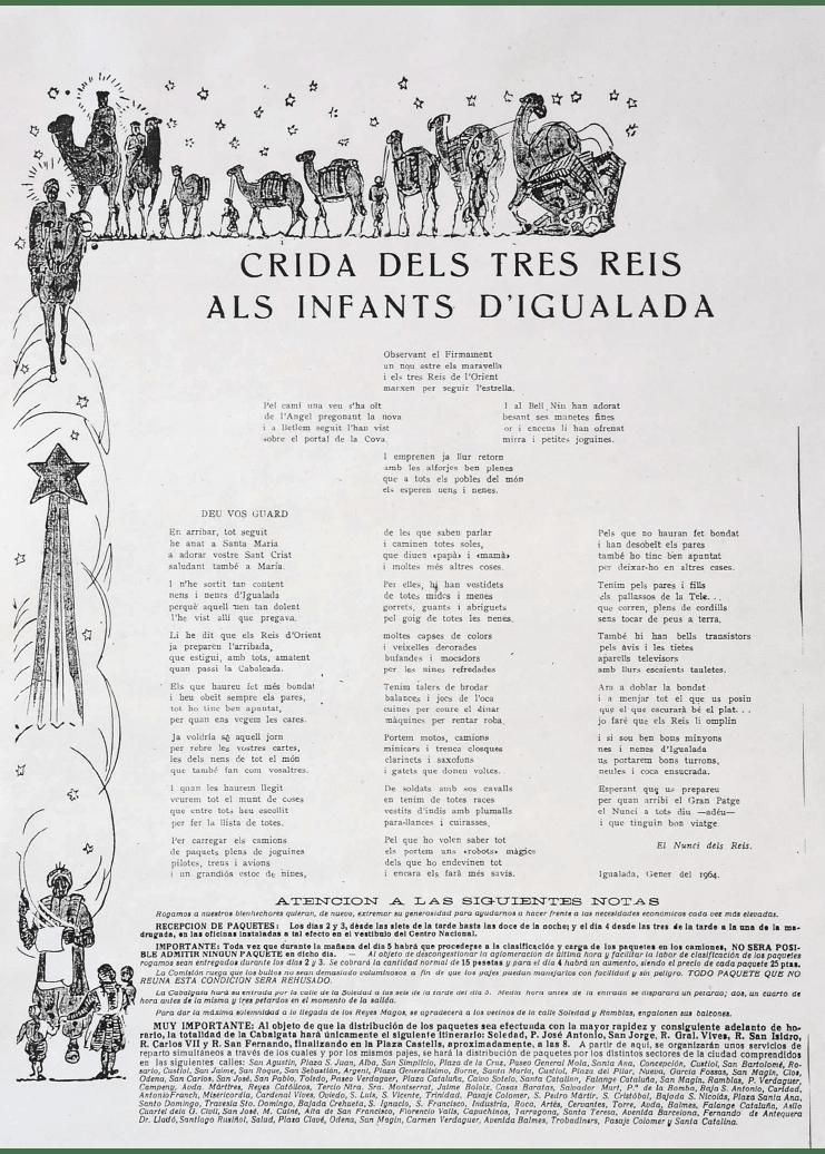 Crida Reis d'Igualada 1964